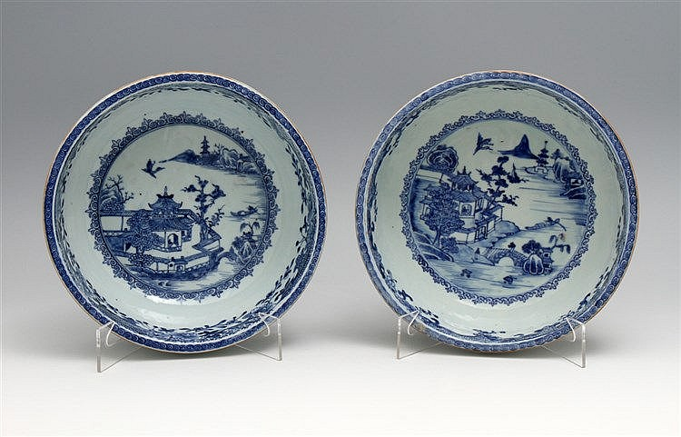 PAIR OF FOOTED BOWLS