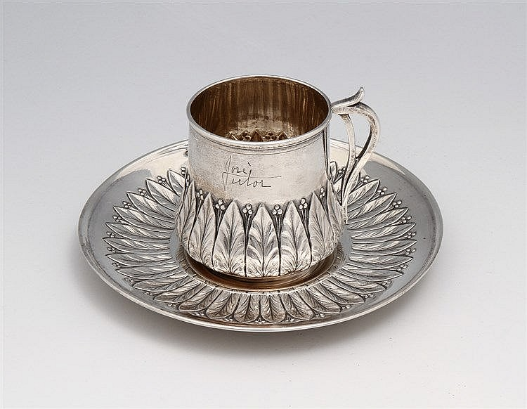 ART NOUVEAU CUP AND SAUCER