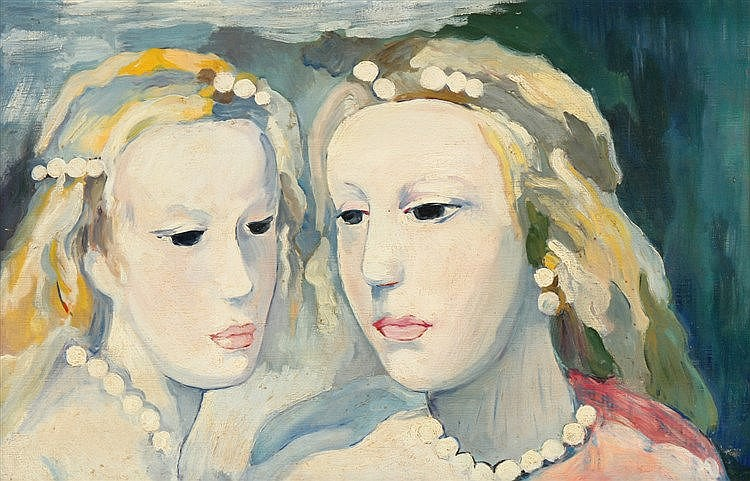 (possibly by) MARIE LAURENCIN (1883-1956), FEMALE FIGURES