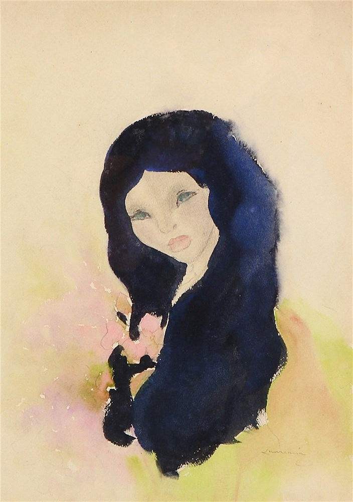 (possibly by) MARIE LAURENCIN (1883-1956), FEMALE FIGURE