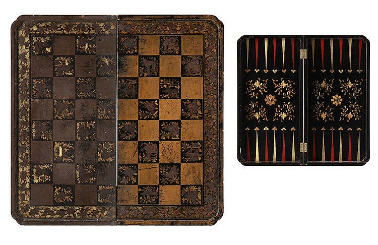 ORIENTAL CASE FOR CHESS AND BACKGAMMON
