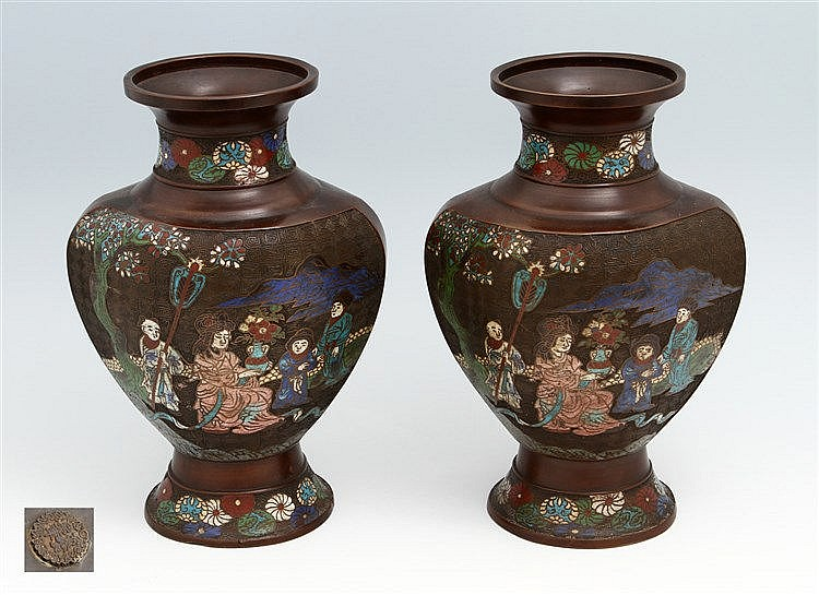 PAIR OF ORIENTAL VASES