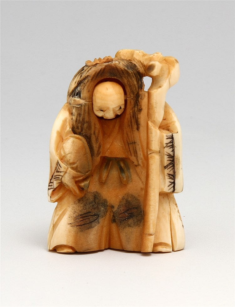 NETSUKE WITH TWO FRONT PARTS