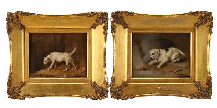WILLIAM BARRAUD (1810-1850), DOGS