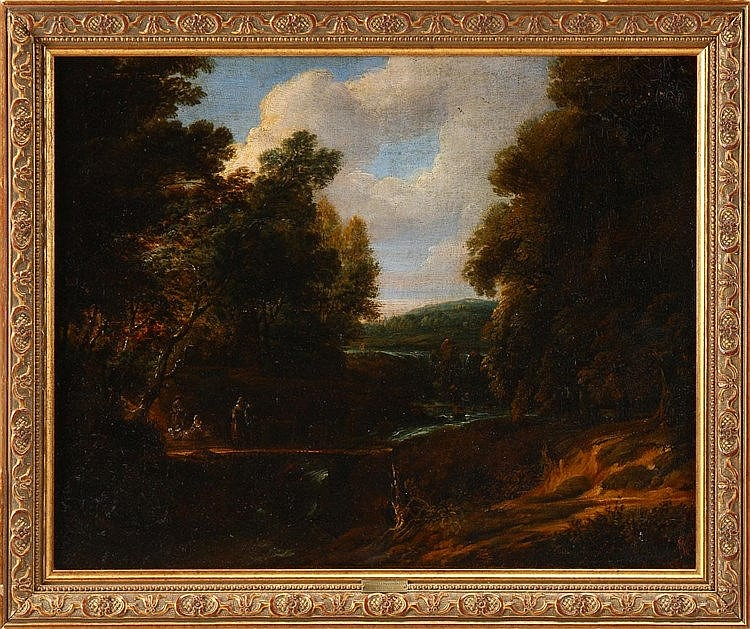 (follower of) CORNELIS HUYSMANS (1648-1727), ANIMATED RURAL SCENERY