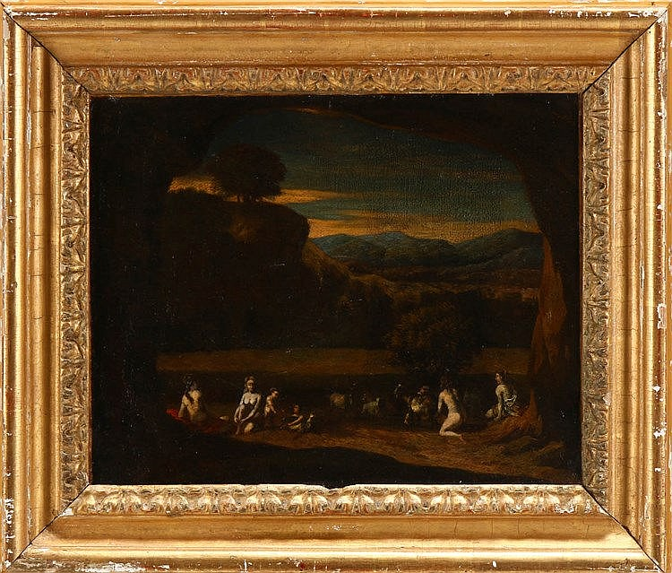 (possibly by) CORNELIS VAN POELINBURGH (1586-1667), ANIMATED RURAL SCENERY