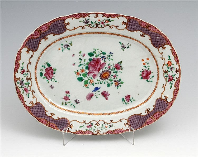 OVAL AND LOBED LONG PLATE