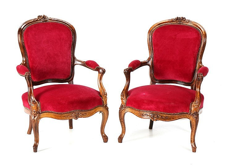 PAIR OF D. JOSÉ/D. MARIA STYLE FAUTEUILS