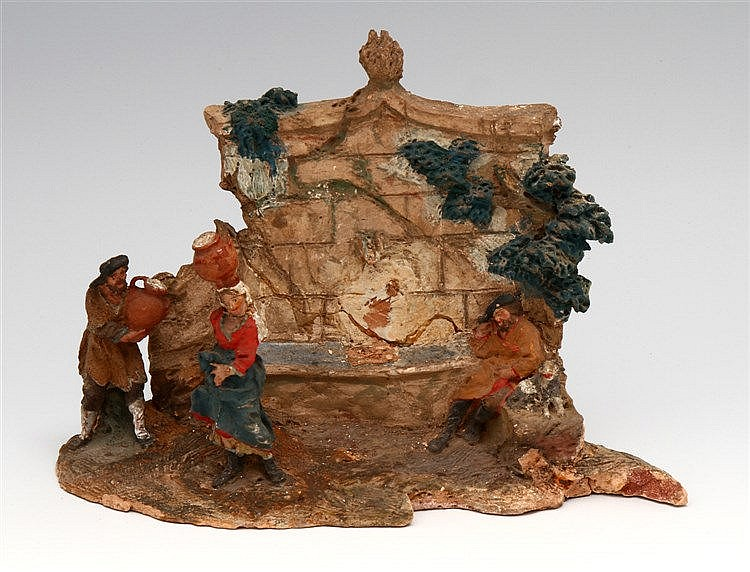 FOUNTAIN WITH FIGURES AND ANIMALS