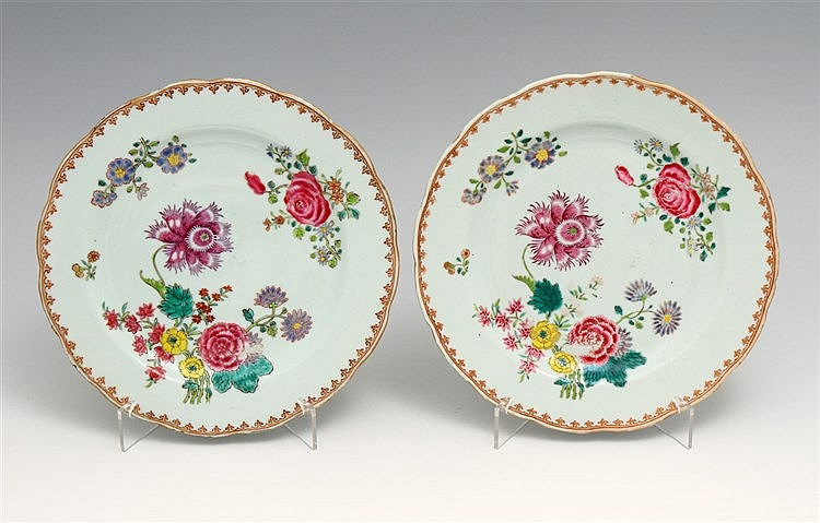 PAIR OF LOBED PLATES