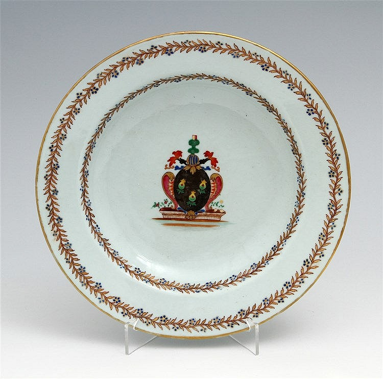 PLATE WITH COAT OF ARMS
