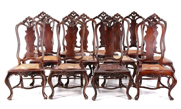 SET OF 12 D. JOSÉ STYLE CHAIRS