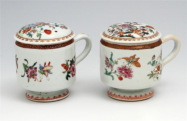 PAIR OF MUSTARD POTS WITH LIDS