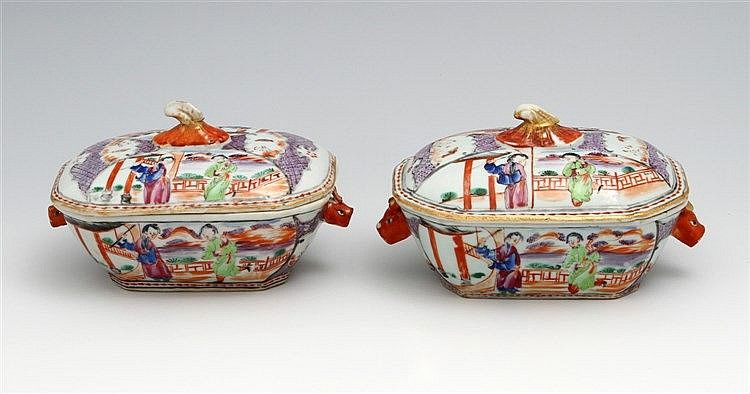 PAIR OF SMALL TUREENS