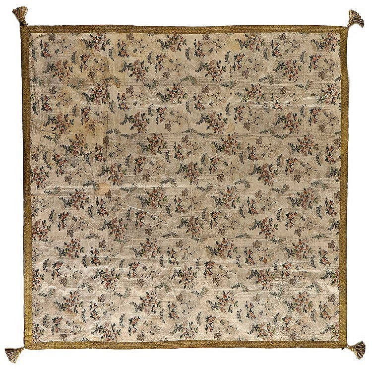 FRENCH WALL CLOTH, 18TH CENTURY