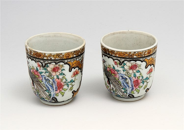 PAIR OF TEA CUPS