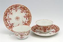 PAIR OF SMALL CUPS AND SAUCERS