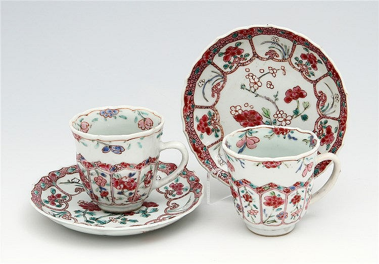 PAIR OF TEA CUPS AND SAUCERS