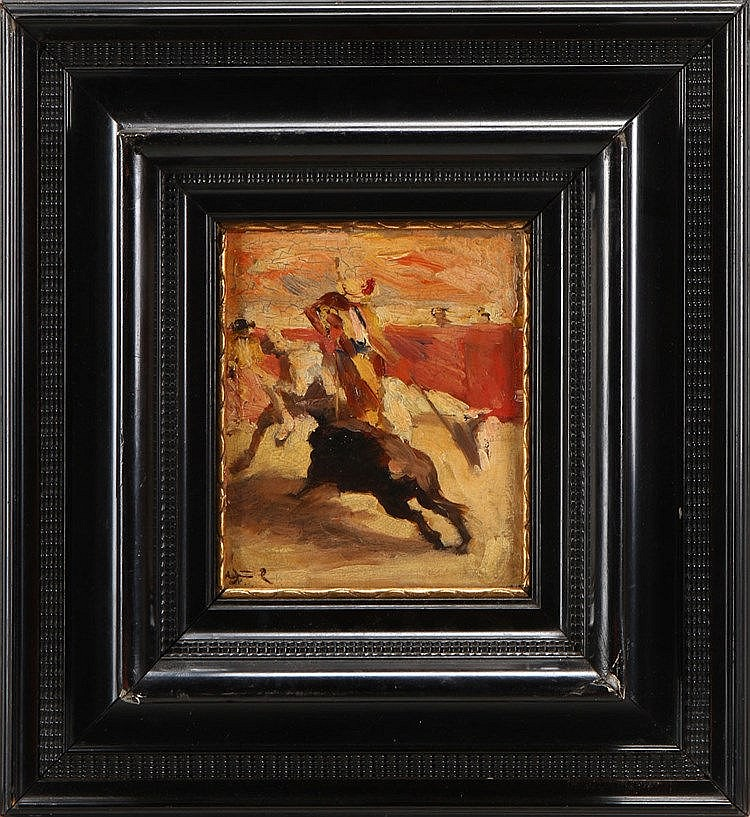 SPANISH SCHOOL, 19TH CENTURY, BULLFIGHTING SCENE