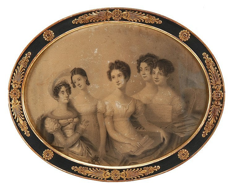 FRENCH SCHOOL, 19TH CENTURY, FAMILY SCENE