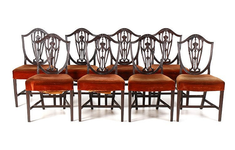EIGHT D. MARIA STYLE CHAIRS