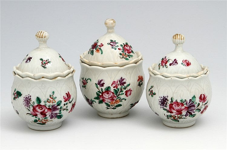 THREE MUSTARD POTS