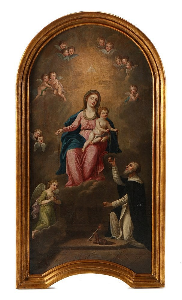 SCHOOL OF PEDRO ALEXANDRINO, OUR LADY AND CHILD AND SAINT ROQUE
