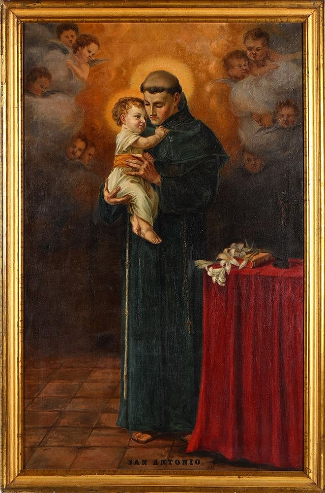 FRENCH SCHOOL, 19TH CENTURY, SAINT ANTHONY AND CHILD