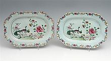 PAIR OF EIGHT-SIDED LONG PLATES