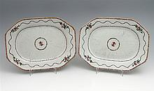 PAIR OF LONG PLATES