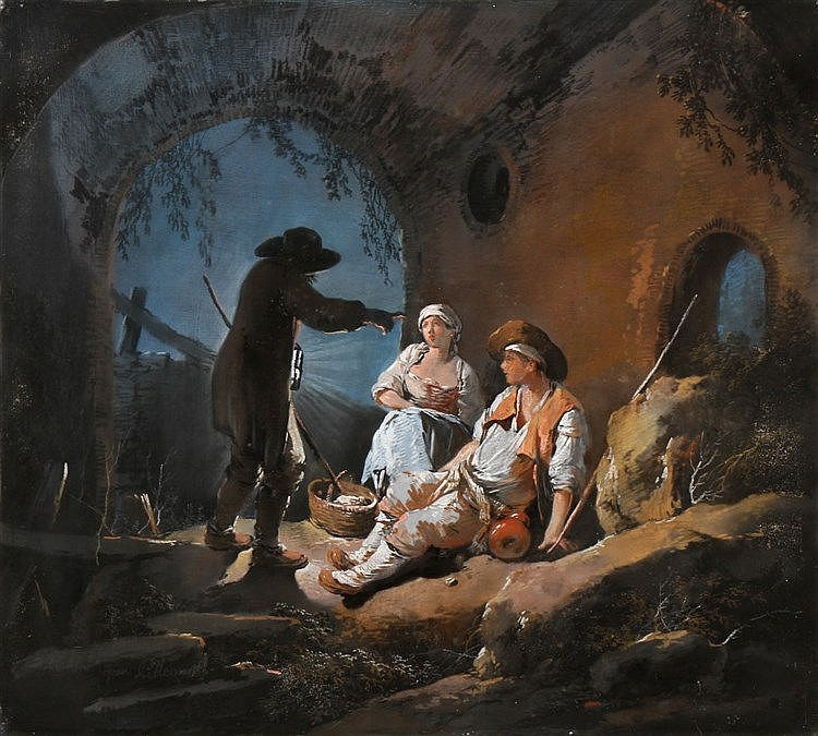 JEAN-BAPTISTE PILLEMENT (1728-1808), ANIMATED RURAL SCENE