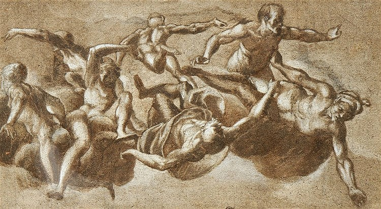 (possibly by) BELISARIO CORENZIO (1558-1646), EXPULSION OF THE REBEL ANGELS