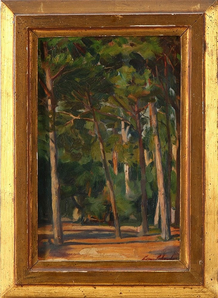 LUIS SALVADOR JÚNIOR (1896-1986), PINE TREE AREA - COSTA DA CAPARICA