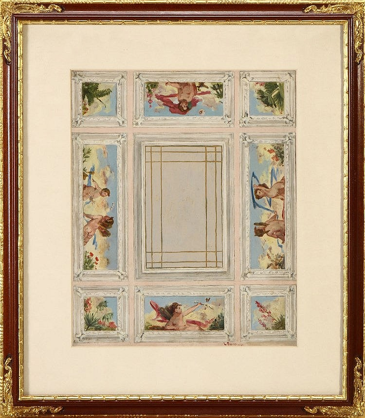LUCIANO FREIRE (1864-1935), CEILING PLAN