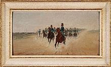 ENRIQUE GOMEZ (1800-1900), MILITARY SCENE