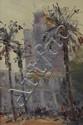 JAIME MURTEIRA (1910-1986), URBAN LANDSCAPE WITH PALM TREES
