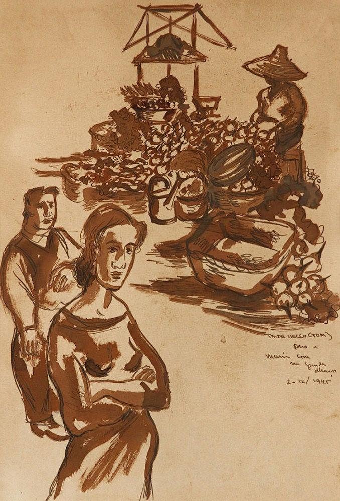 THOMAZ DE MELLO-TOM (1906-1990), MARKET