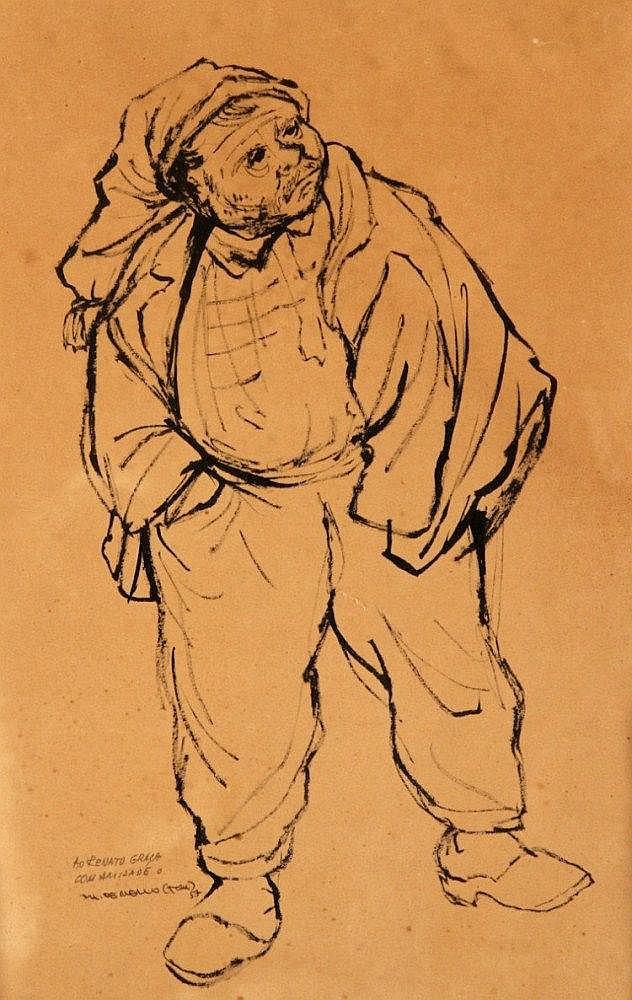 THOMAZ DE MELLO-TOM (1906-1990), FISHERMAN
