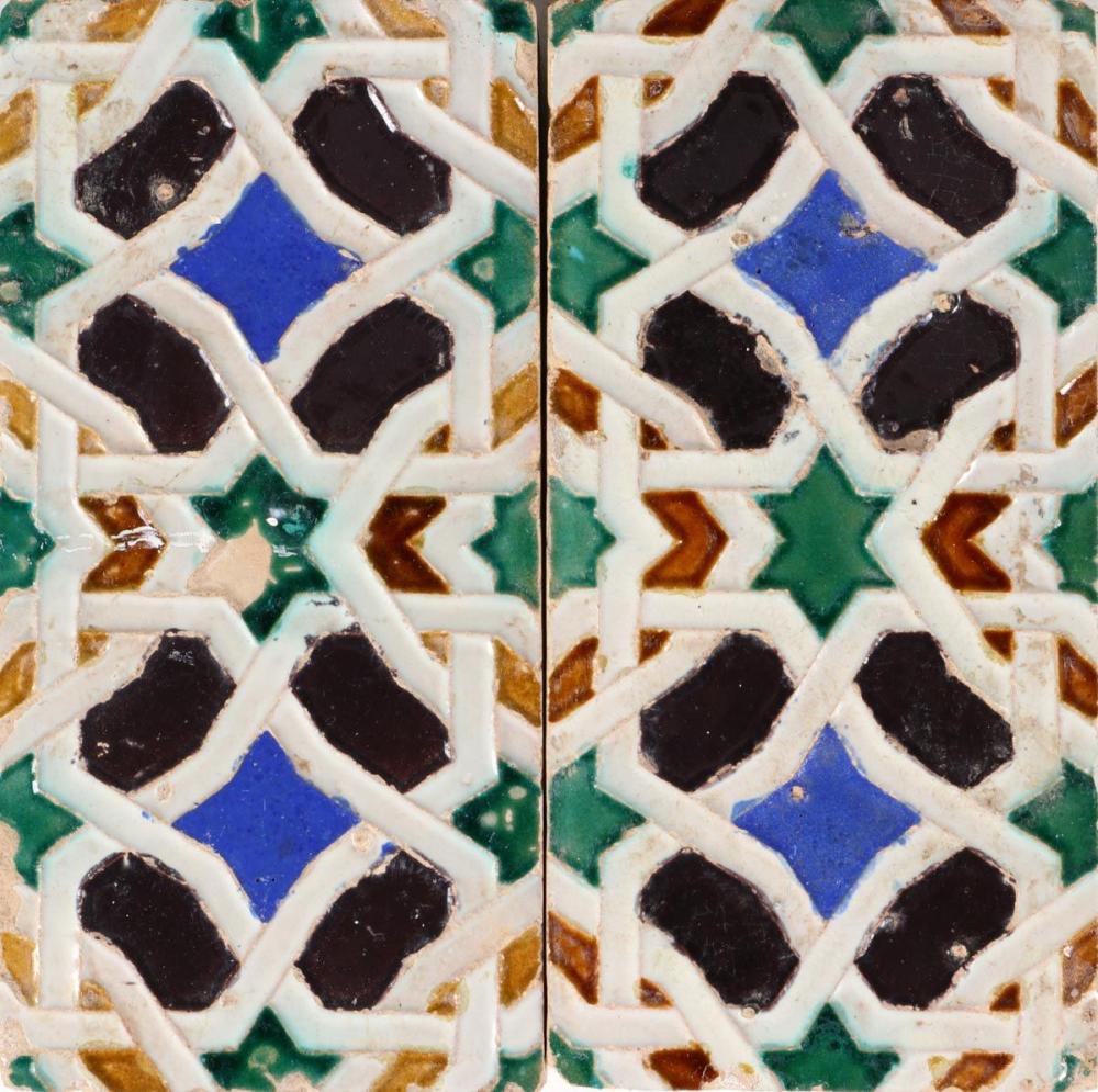 A SET OF 6 HISPANO-ARABIC TILES