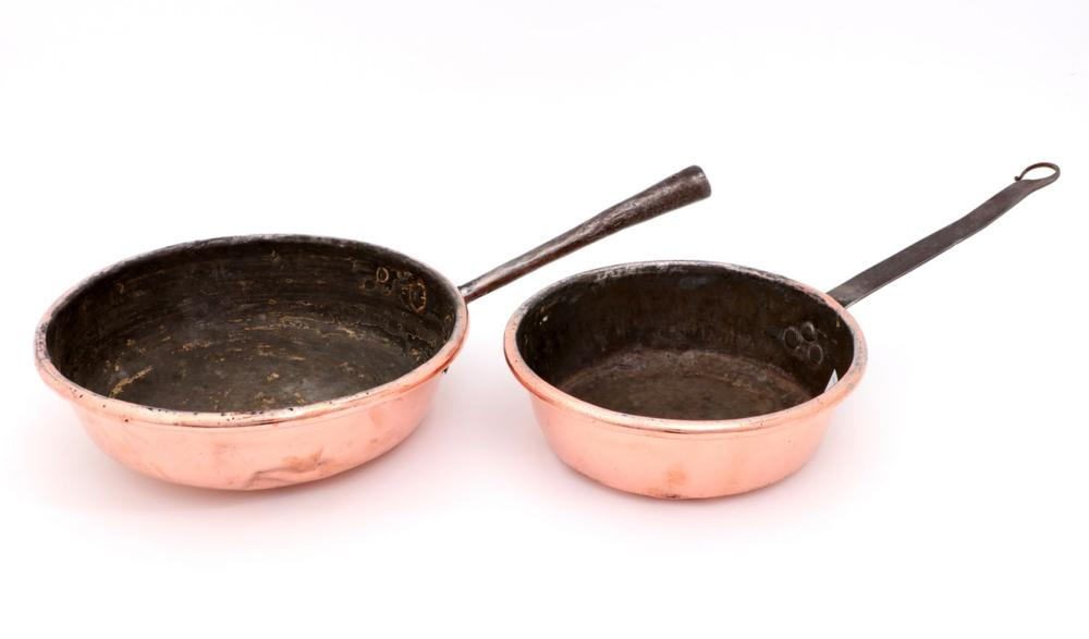 TWO FRYING PANS