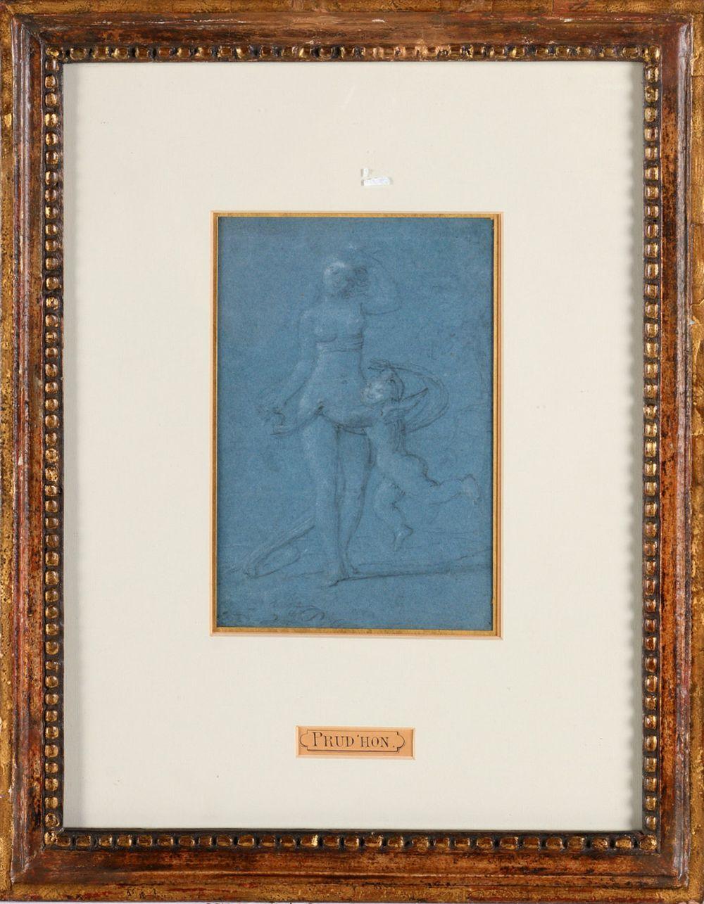 "ATRIBUTED TO PIERRE-PAUL PRUD'HON (1758-1823), ""VENUS AND LOVE"""