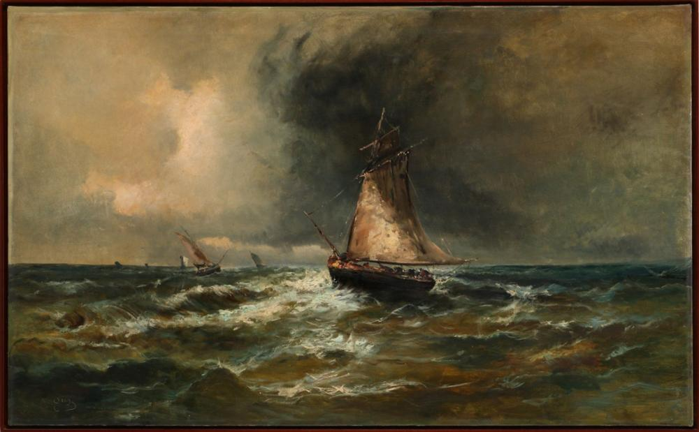 EUROPEAN SCHOOL (19TH/20TH CENTURY), SEASCAPE WITH BOATS