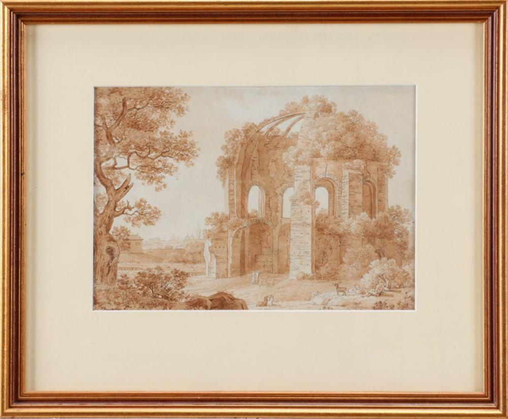 FRENCH SCHOOL (18TH CENTURY), TEMPLE OF MINERVA