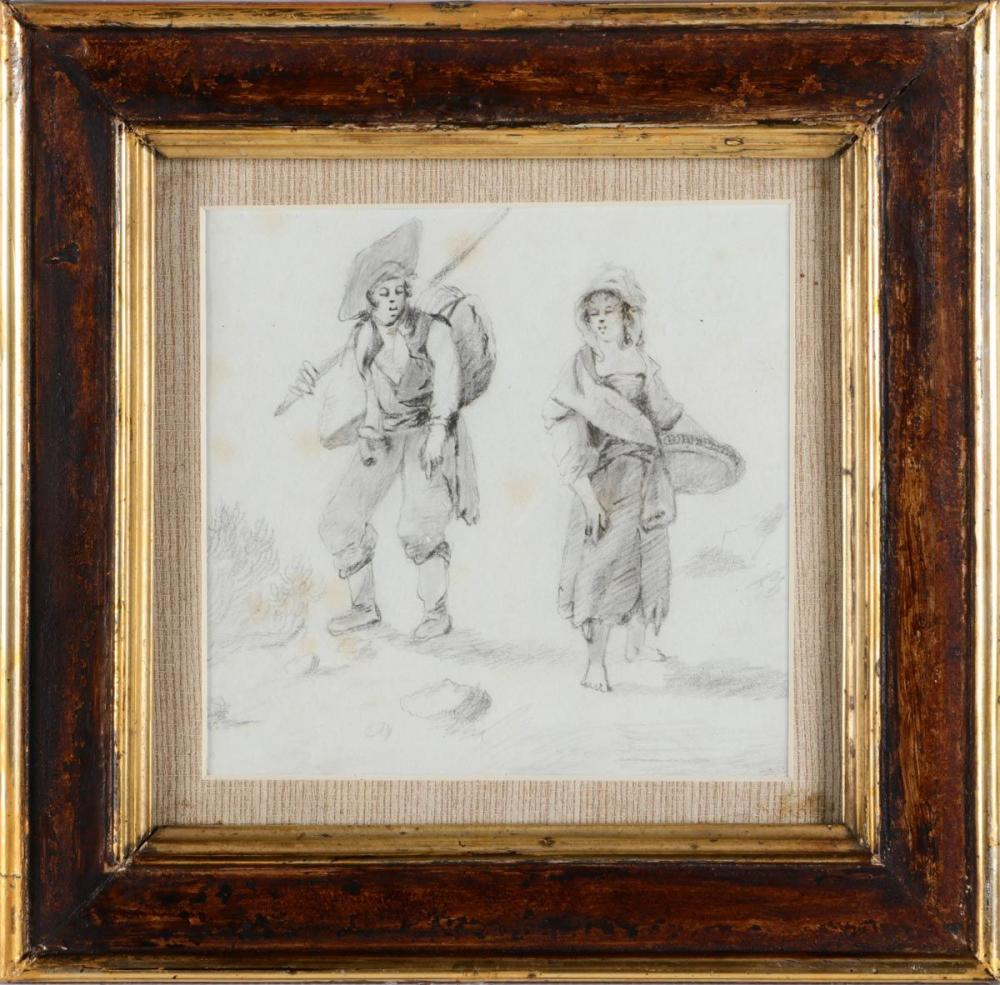 FRENCH SCHOOL (19TH CENTURY), PEASANT FIGURES