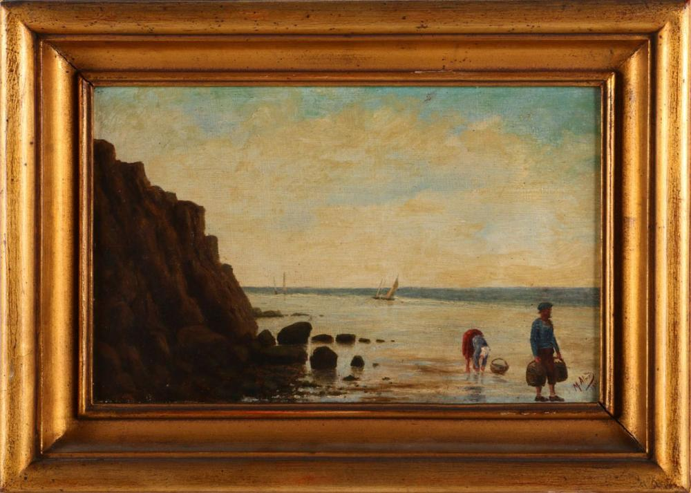 PORTUGUESE SCHOOL (19TH/20TH CENTURY), BEACH WITH FIGURES