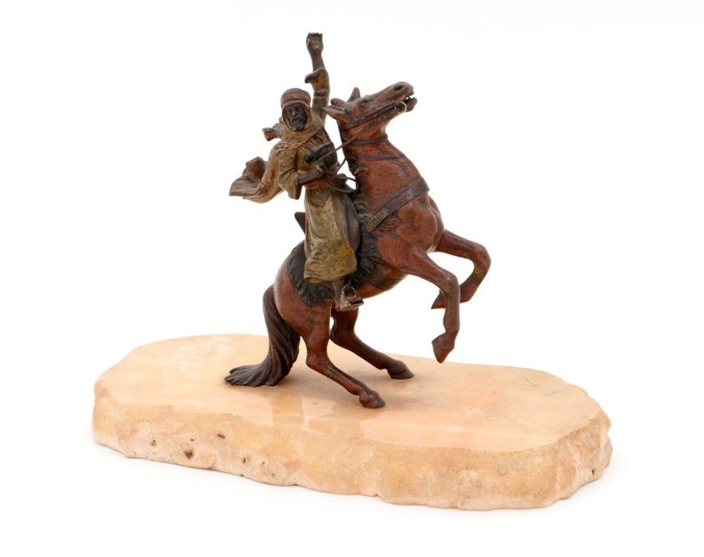 ARABIAN WITH HORSE