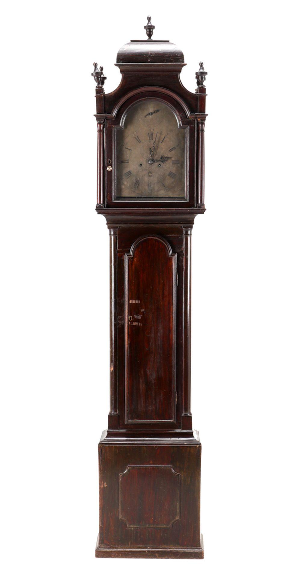 A GEORGE III LONGCASE CLOCK