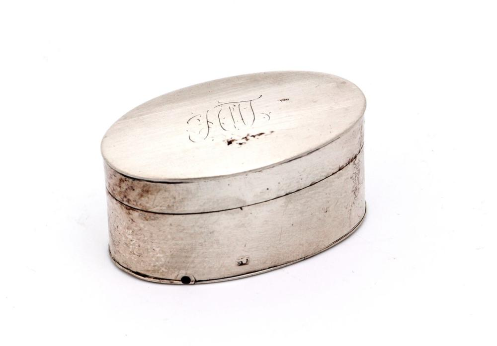 A GEORGE III GRATER BOX
