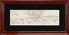 ENRIQUE CASANOVA (1850-1913), VISTA DE LISBOA ANTIGA