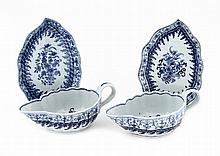 PAIR OF GRAVY BOATS WITH SAUCERS